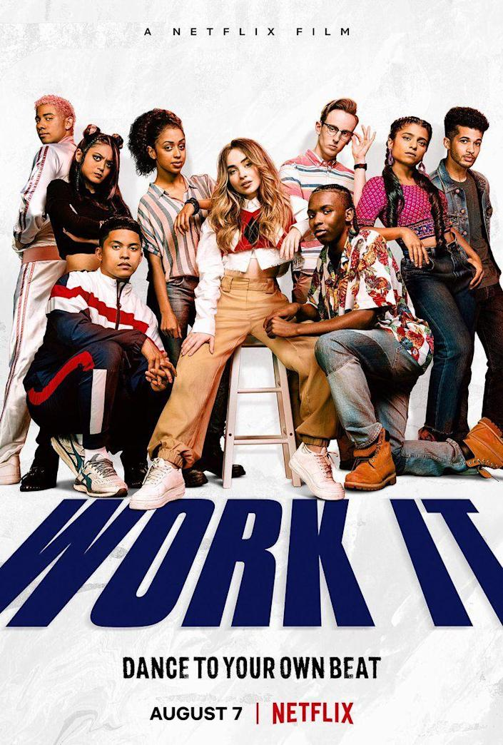 <p><strong>Quinn suddenly became an amazing dancer because she <em>felt</em> the music? </strong></p><p>Netflix's latest original film revolves around Quinn (Sabrina Carpenter), a girl who has never danced in her life but wants to win the Work It Competition. She doesn't make the school dance team, so she creates her own. Throughout the movie, she looks purposefully terrible at dancing until right before the competition, when she suddenly <em>feels</em> the music while stamping books at a nursing home she volunteers at. Of course, the team wins the dance competition as the newcomers. And though we all love an underdog story, this one is a little too far-fetched.</p>