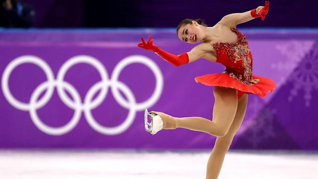 Olympic Athletes of Russia's Alina Zagitova and Yevgenia Medvedeva took home gold and silver while the Americans fell to the middle.