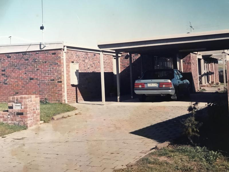 Prudence's house and driveway when she lived in it as a child in the 1980s. Photo: Supplied