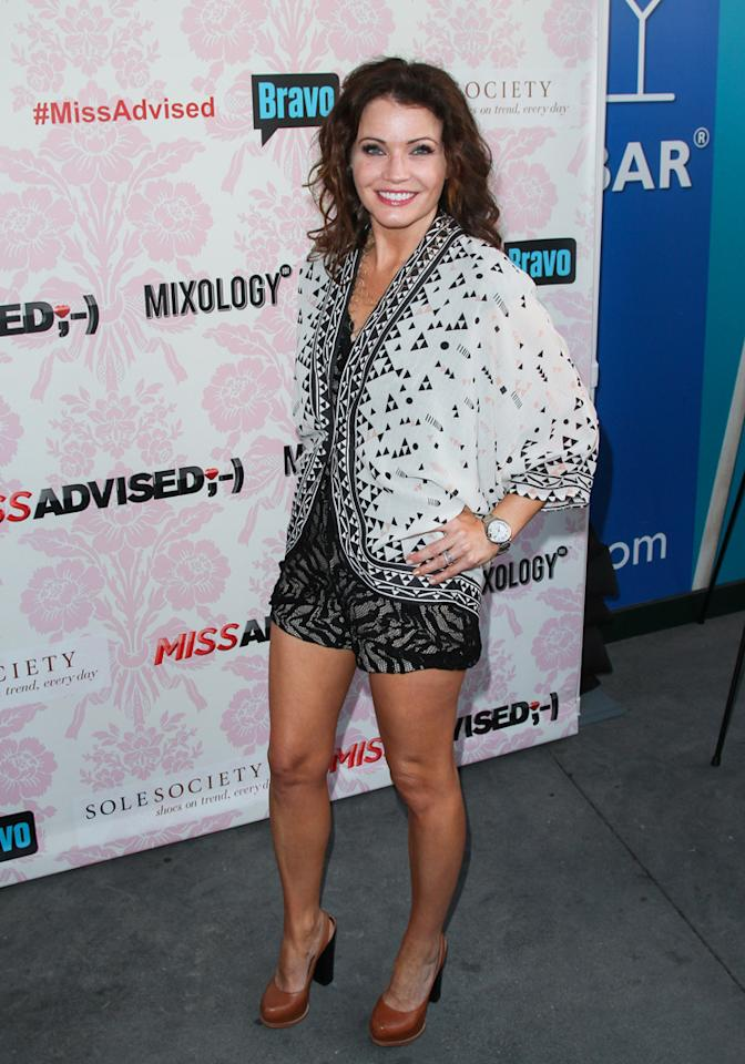 "Tanya McQueen attends the viewing party for Bravo's new series ""Miss Advised"" at the Planet Dailies & Mixology 101 on June 18, 2012 in Los Angeles, California."