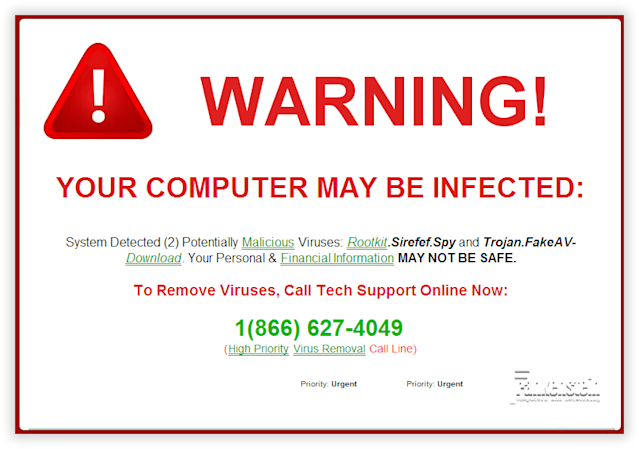 No, you're not infected. No, you should not call. Just quit your browser.