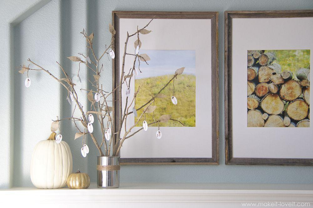 """<p>PSA: Thanksgiving trees are happening in a big way. If you haven't caught on yet, we're here to fill you in. This is where you DIY a mini tree, usually out of bare branches, and then write what you're thankful for on ornaments. If you're still lacking a <a rel=""""nofollow"""" href=""""https://www.housebeautiful.com/entertaining/holidays-celebrations/g2684/thanksgiving-centerpieces/"""">Thanksgiving centerpiece</a>, this is an instant win. You could fill out your ornaments ahead of time, but we think letting the fam join in on Thanksgiving day would be totally fun, too.</p>"""