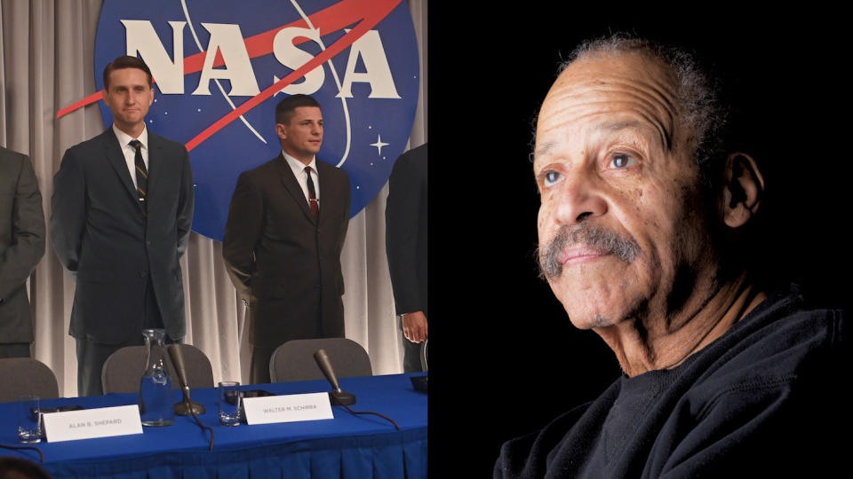Black space pioneer Ed Dwight (right) could feature in season two of 'The Right Stuff'. (Credit: Disney+/Matthew Staver/Washington Post/Getty)