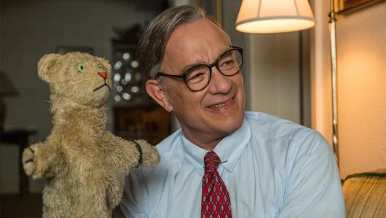 Hanks is causing awards season buzz for his portrayal as Mister Rogers (Sony)