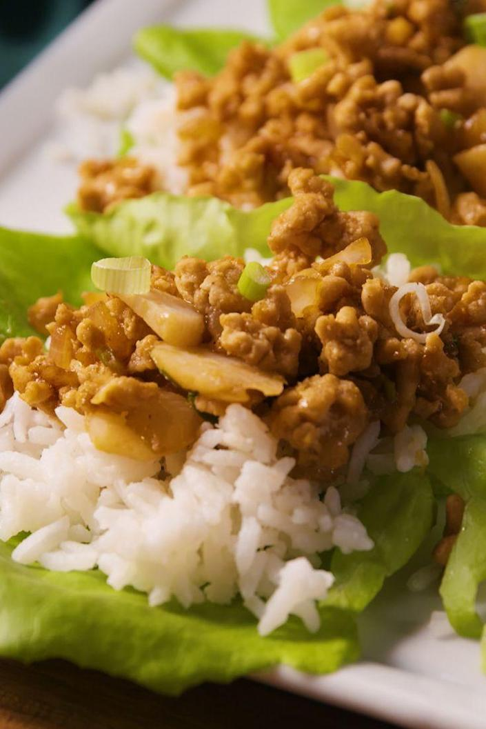 """<p>Watch your back, P.F. Chang's!</p><p>Get the recipe from <a href=""""https://www.delish.com/cooking/recipe-ideas/recipes/a49533/asian-lettuce-wraps-recipe/"""" rel=""""nofollow noopener"""" target=""""_blank"""" data-ylk=""""slk:Delish"""" class=""""link rapid-noclick-resp"""">Delish</a>.</p>"""