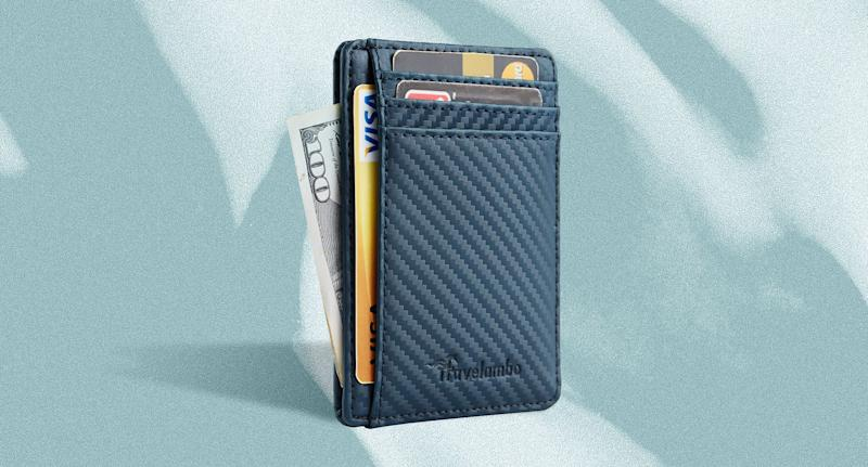 With over 5,000 near-perfect reviews, the Travelambo Slim Wallet the best-selling men's wallet on Amazon and it can be yours for as low as $8. (Photo: Amazon)