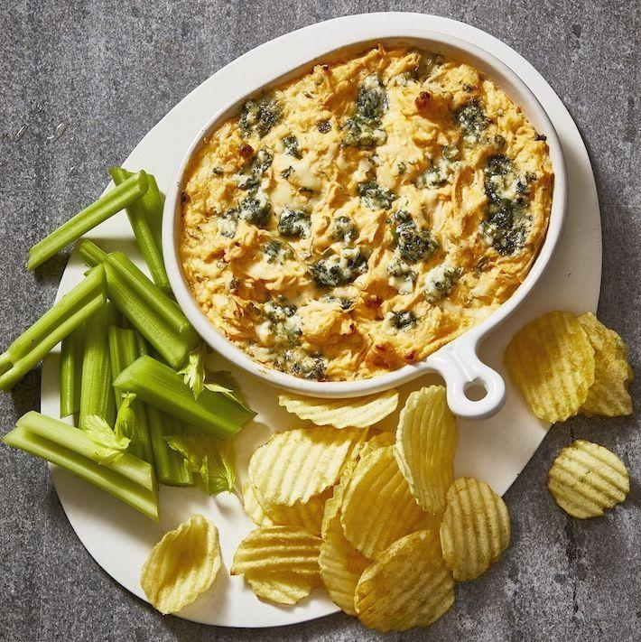 "<p>There's no easier way to please a crowd than with this warm, gooey dip. We use <a href=""https://www.goodhousekeeping.com/food-recipes/easy/g32160791/leftover-rotisserie-chicken-recipes/"" rel=""nofollow noopener"" target=""_blank"" data-ylk=""slk:rotisserie chicken"" class=""link rapid-noclick-resp"">rotisserie chicken</a> so it's a cinch to put together in time for the picnic.</p><p><em><a href=""https://www.goodhousekeeping.com/food-recipes/a19738/buffalo-chicken-dip/"" rel=""nofollow noopener"" target=""_blank"" data-ylk=""slk:Get the recipe for Buffalo Chicken Dip »"" class=""link rapid-noclick-resp"">Get the recipe for Buffalo Chicken Dip »</a></em></p>"