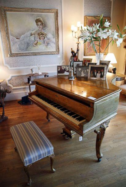 PHOTO: A Steinway Model M Grand Piano used in the movie 'Behind the Candelabra', which belonged to the late Hungarian-American actress Zsa Zsa Gabor, is displayed at the actress' residence in Bel Air, Calif., April 12, 2018. (Mike Nelson/EPA via Shutterstock)