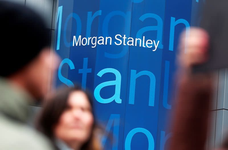 FILE PHOTO: The logo Morgan Stanley is seen in New York