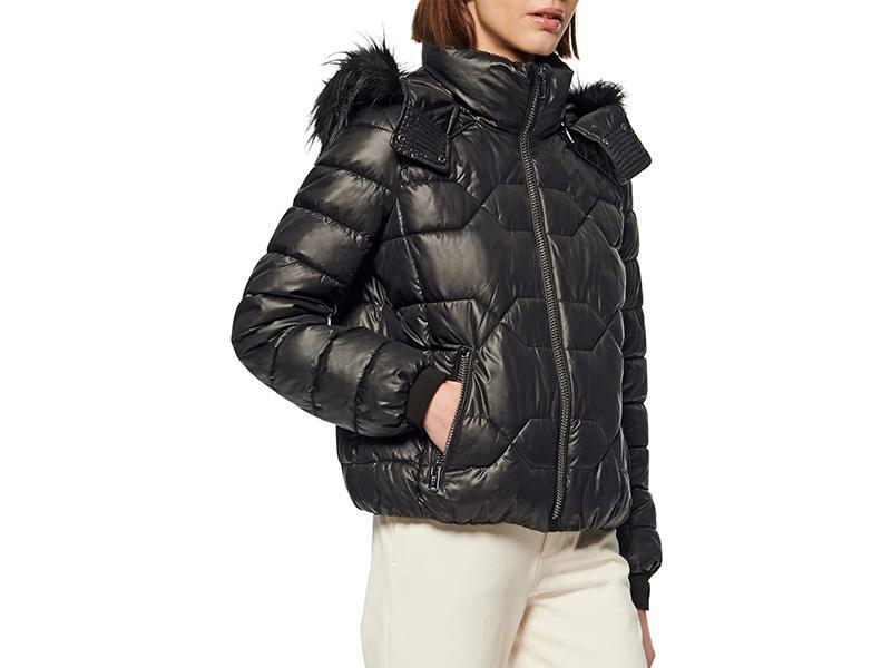 """Davignon says the puffer jacket is a must-have when it comes to seasonal outerwear. But this season, opt for an oversize winter jacket with a stylish flair. """"Large voluminous shapes with cropped hemlines and belted waists capitalize on comfort while remaining contemporary, and leather-like or metallic finishes elevate the look further for a stay-warm statement piece,"""" she explains. (Photo: Nordstrom) <a href=""""https://fave.co/2XsitbH"""" rel=""""nofollow noopener"""" target=""""_blank"""" data-ylk=""""slk:SHOP IT:"""" class=""""link rapid-noclick-resp""""><strong>SHOP IT: </strong></a><strong>Marc New York Faux Fur Trim Down & Feather Puffer Jacket, $120, </strong><a href=""""https://fave.co/2XsitbH"""" rel=""""nofollow noopener"""" target=""""_blank"""" data-ylk=""""slk:nordstrom.com"""" class=""""link rapid-noclick-resp""""><strong>nordstrom.com</strong></a>"""