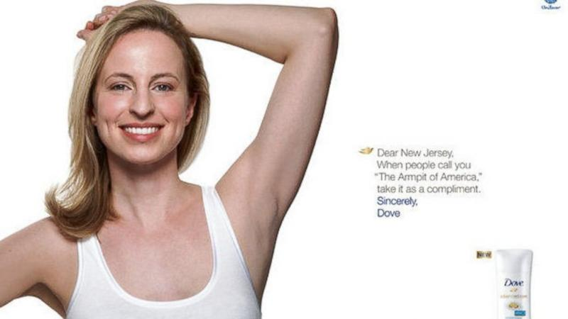 Unilever's Dove Drops NJ Billboard that Refers to the State as an 'Armpit'