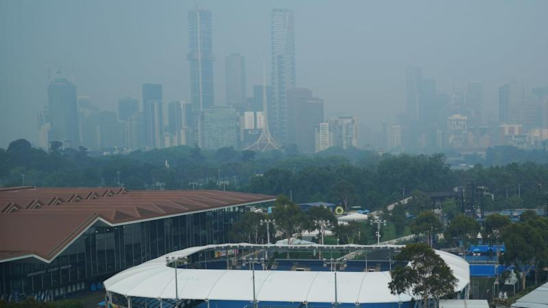 There's no sign of the smoke haze at Melbourne Park after days of poor air quality across the city