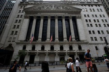 The New York Stock Exchange (NYSE) is pictured in New York City, New York, U.S., August 2, 2017. REUTERS/Carlo Allegri