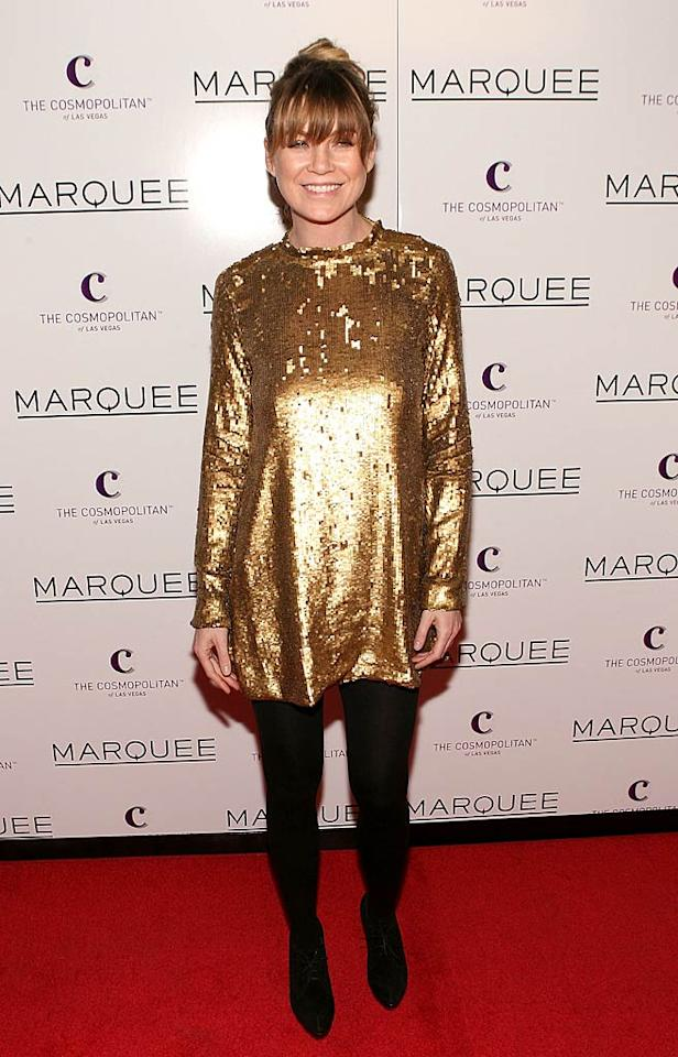 "Golden Girl Blanche Devereaux wouldn't even dare to don the shiny eyesore Ellen Pompeo unsuccessfully attempted to rock at the grand opening of Marquee Nightclub. Jesse Grant/<a href=""http://www.wireimage.com"" target=""new"">WireImage.com</a> - December 30, 2010"