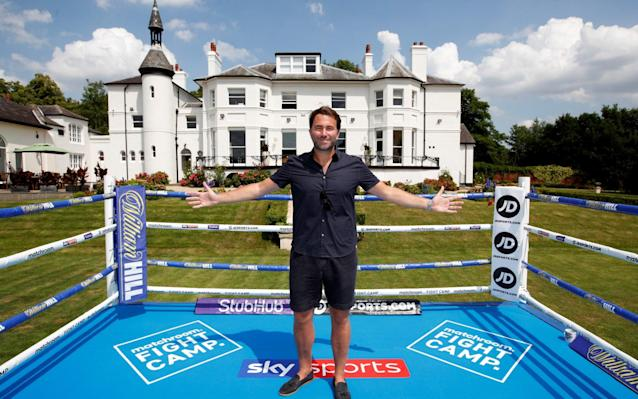 Eddie Hearn at Matchroom HQ - Schedule for Eddie Hearn's Matchroom HQ 'Fight Camp' announced with Dillian Whyte and Alexander Povetkin headlining - ACTION IMAGES