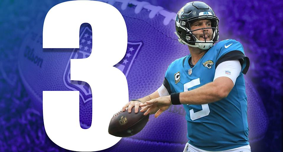 <p>The thing about a streaky quarterback is you'll get some good games out of him. If the Jaguars can get the Blake Bortles they got in Week 2 against the Pats in January, I'm not sure anyone in the AFC can beat them. (Blake Bortles) </p>