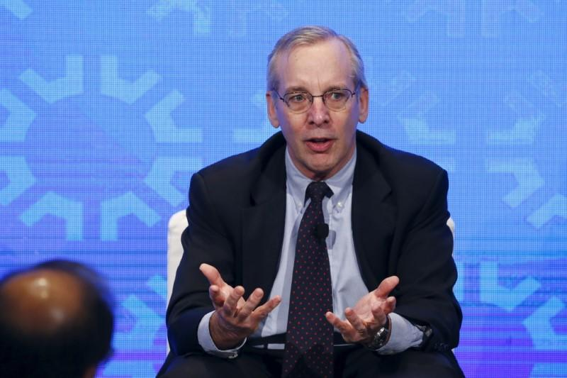 New York Fed President William Dudley takes part in a panel convened to speak about the health of the U.S. economy in New York