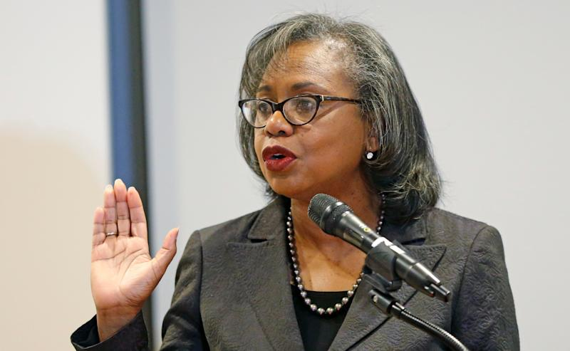 "Law professor Anita Hill said Thursday she would only be satisfied with Biden ""when I know there is real change and real accountability and real purpose.""  (Photo: Rick Bowmer/ASSOCIATED PRESS)"