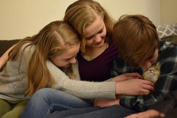 PHOTO: On Nov. 1, Alanna Lundin officially adopted Cassandra, Elijah and Samantha -- the youngest of a sibling group of six. The single mother had fostered them for 1,183 days. (Oregon Humane Society)