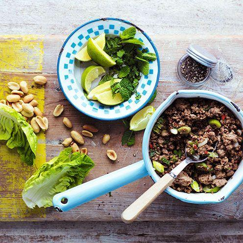 """<p>Fresh and flavoursome, this low-carb supper works well with pork mince too. If you prefer a more substantial meal, add some cooked rice noodles to the lamb mixture.</p><p><strong>Recipe: <a href=""""https://www.goodhousekeeping.com/uk/food/recipes/a537142/vietnamese-lamb-cups/"""" rel=""""nofollow noopener"""" target=""""_blank"""" data-ylk=""""slk:Vietnamese lamb cups"""" class=""""link rapid-noclick-resp"""">Vietnamese lamb cups</a></strong></p>"""