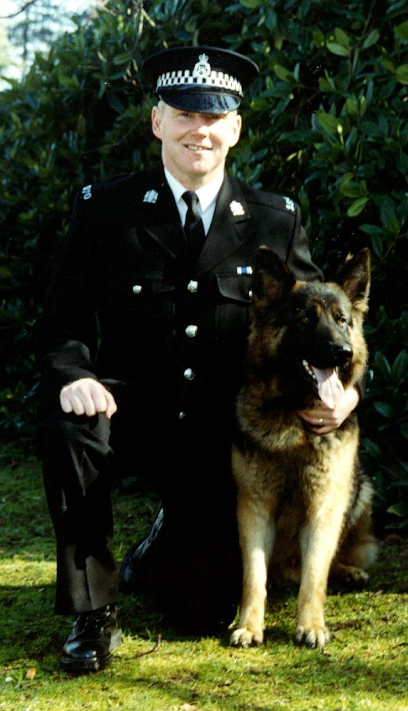 Undated picture of Pc Ged Walker. David Andrew Parfitt, of Wareham Close, Aspley, Nottingham, denies murdering the 42-year-old father-of-two, who died in hospital two days after an incident in which he was dragged more than 100 yards at up to 30mph along a street in Bulwell, Nottingham. The jury at Birmingham Crown Court has heard how Pc Walker was trapped in the driver's window of a stolen taxi driven by Parfitt before he was thrown into a concrete bollard. *11/12/03: Parfitt, 26, has been found guilty of manslaughter at Birmingham Crown Court. 25/3/04: A report by HM Inspector of Probation reveals that probation officers declined to take action as David Parfitt, 26, who was later convicted of the manslaughter of the officer, consistently failed drug tests imposed as part of his early release from a previous sentence and that a catalogue of mistakes prevented the criminal being returned to custody months before the constable's death. 29/03/2004 A probation service was criticised by a watchdog for failing to properly supervise high-risk offenders in the community. Chief Inspector of Probation, Professor Rod Morgan, said a review of Hertfordshire Probation Area had revealed 'a number of shortcomings'. The report comes just days after another study by Prof Morgan which criticised the way probation staff in another part of the country handled David Parfitt, an addict who killed a police officer after being released from prison on licence. It said probation officers had allowed Parfitt, 26, to remain at liberty to kill Nottinghamshire dog handler Pc Walker.