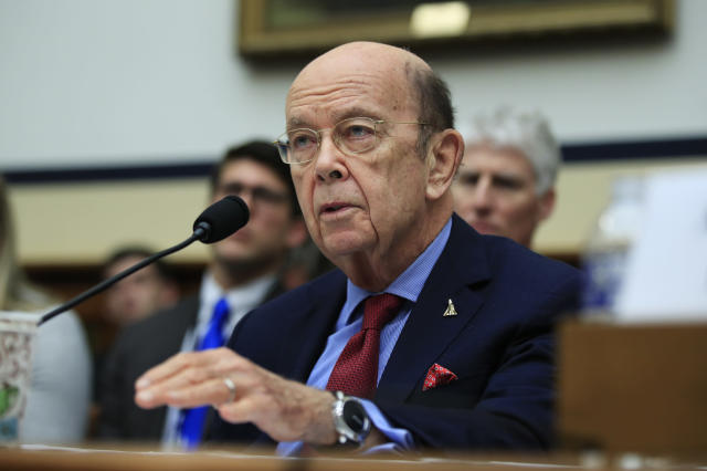 Commerce Secretary Wilbur Ross testifies before a House committee on Capitol Hill on June 22. (Photo: Manuel Balce Ceneta/AP)