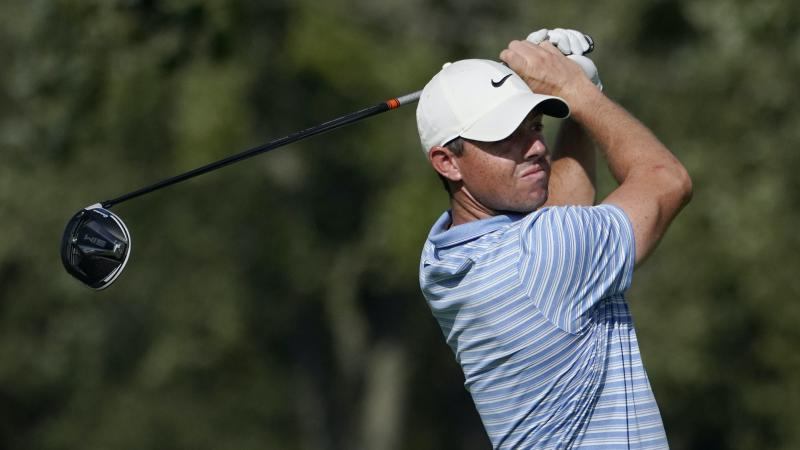 Rory McIlroy in share of the lead through two rounds in Chicago