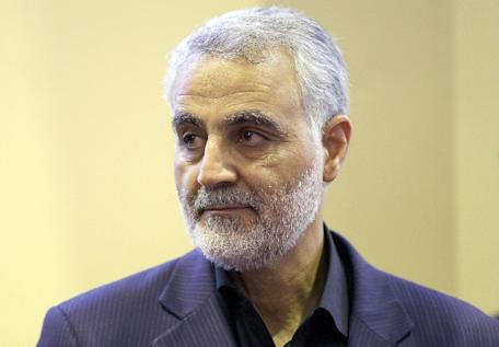 US Secretary of State John Kerry called his Russian counterpart Sergei Lavrov to express concern about the alleged visit of Iranian General Qassem Suleimani, pictured here on September 14, 2013, in Tehran