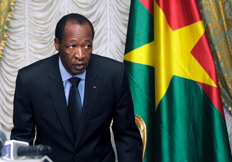 President Blaise Compaore, pictured on July 26, 2014, stepped down and went into exile in Ivory Coast after a popular uprising triggered by his attempt to extend his 27-year rule
