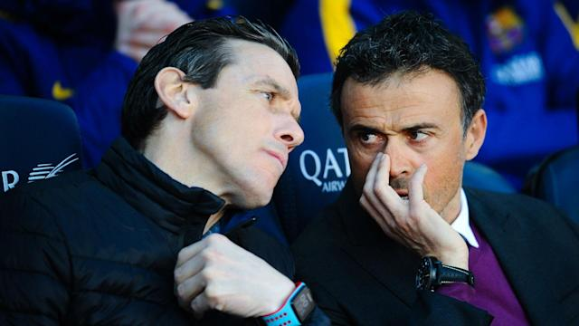 Luis Enrique's assistant Juan Carlos Unzue has emerged as a frontrunner for the the top job at Barcelona and the coach has his admirers.