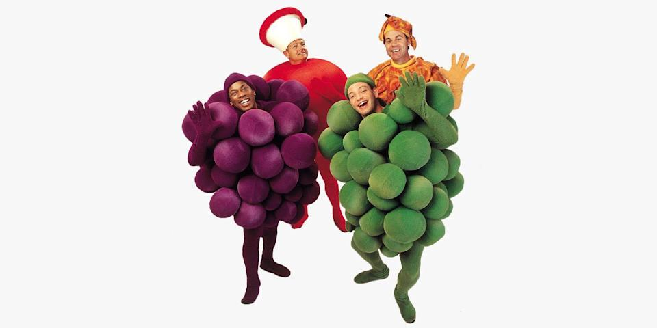 """<p>Whether you're Fruit of the Loom or just fruit, this group costume is fun for everyone. There's even a <a href=""""https://go.redirectingat.com?id=74968X1596630&url=https%3A%2F%2Fwww.halloweencostumes.com%2Fadult-pineapple-costume.html&sref=https%3A%2F%2Fwww.bestproducts.com%2Flifestyle%2Fnews%2Fg1733%2Fgroup-halloween-costumes%2F"""" rel=""""nofollow noopener"""" target=""""_blank"""" data-ylk=""""slk:pineapple"""" class=""""link rapid-noclick-resp"""">pineapple</a>, <a href=""""https://go.redirectingat.com?id=74968X1596630&url=https%3A%2F%2Fwww.halloweencostumes.com%2Fgreen-grapes-costume.html&sref=https%3A%2F%2Fwww.bestproducts.com%2Flifestyle%2Fnews%2Fg1733%2Fgroup-halloween-costumes%2F"""" rel=""""nofollow noopener"""" target=""""_blank"""" data-ylk=""""slk:green grapes"""" class=""""link rapid-noclick-resp"""">green grapes</a>, and a <a href=""""https://go.redirectingat.com?id=74968X1596630&url=https%3A%2F%2Fwww.halloweencostumes.com%2Fadult-peach-costume.html&sref=https%3A%2F%2Fwww.bestproducts.com%2Flifestyle%2Fnews%2Fg1733%2Fgroup-halloween-costumes%2F"""" rel=""""nofollow noopener"""" target=""""_blank"""" data-ylk=""""slk:peach"""" class=""""link rapid-noclick-resp"""">peach</a>, too.</p>"""