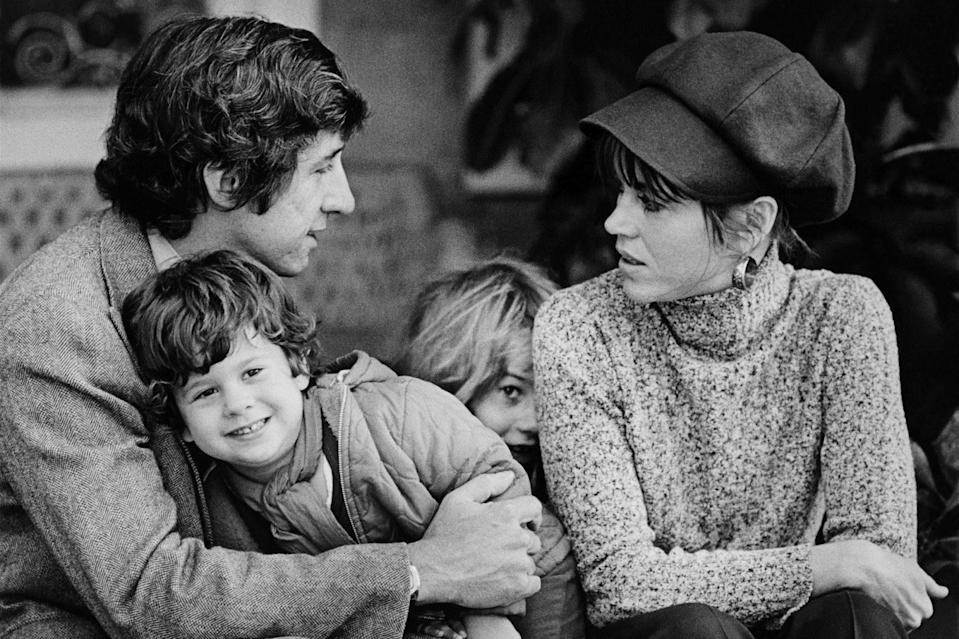 <p>After her eight-year marriage to Roger Vadim, the actress married activist Tom Hayden in 1973, and the two had a son, Troy Garity (left, with half-sister Vanessa). The pair remained husband and wife for 17 years. </p> <p>One year after their split, in 1991, Fonda married Ted Turner, the founder of CNN. They were together 10 years.</p>