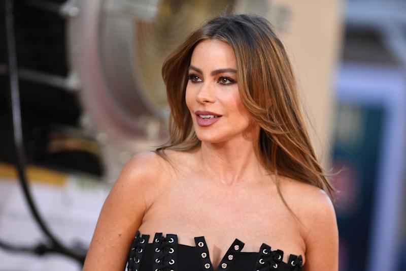Sofia Vergara arrives for the premiere of Sony Pictures'