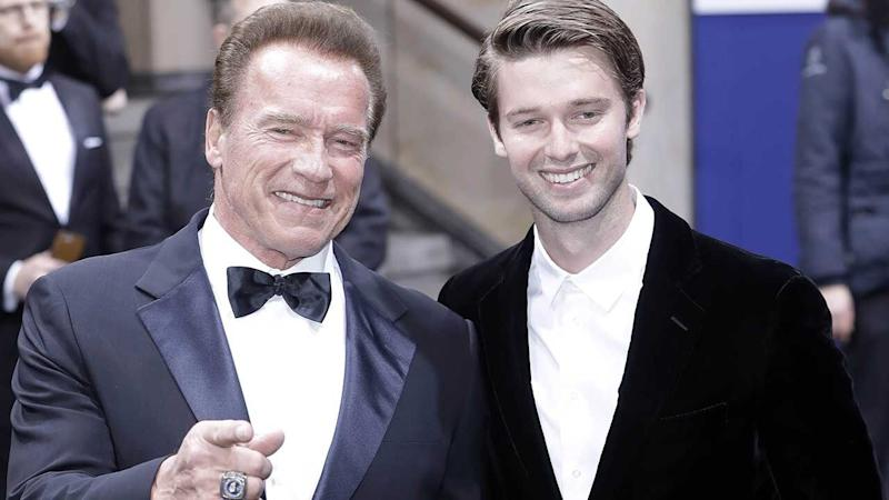 Arnold and Patrick Schwarzenegger Dress Up as Cowboys & Discuss Their 'Great' Father-Son Relationship