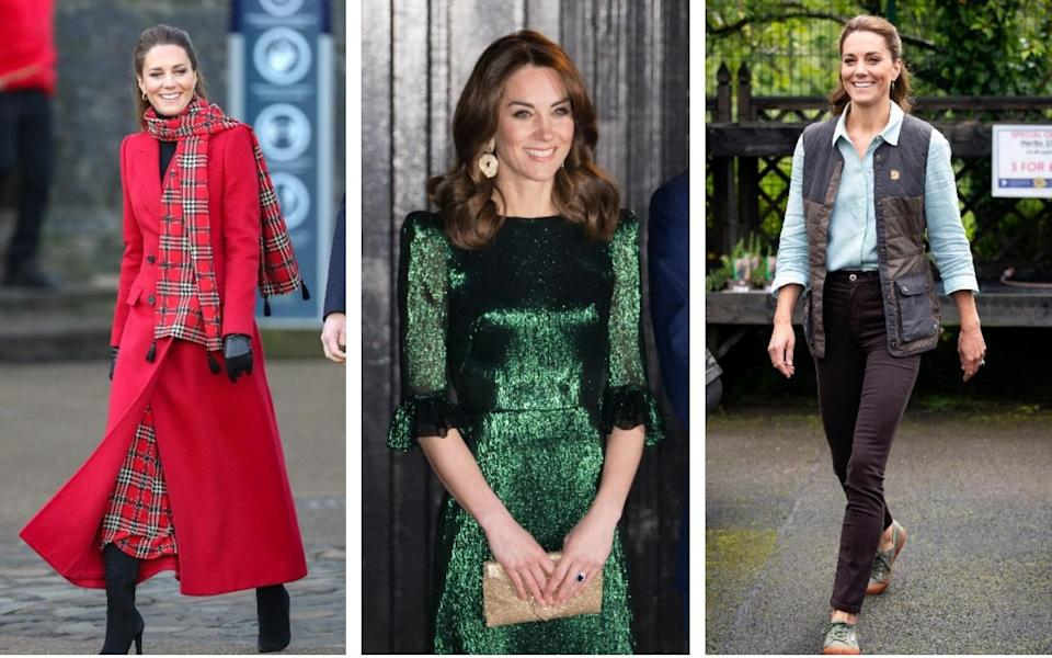 Some of Kate's standout looks of 2020 - Getty/ PA
