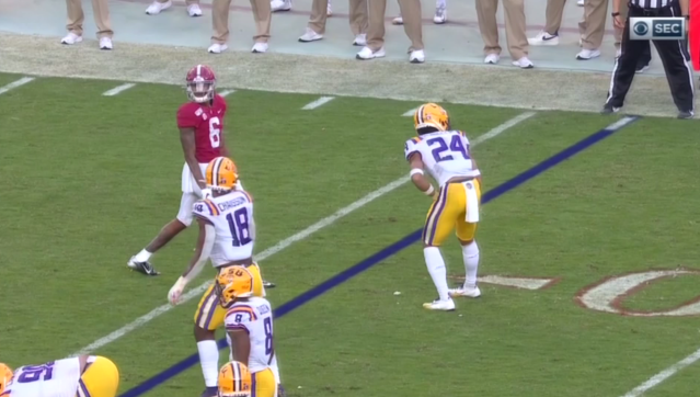 This turned into a TD for Alabama. (via CBS)