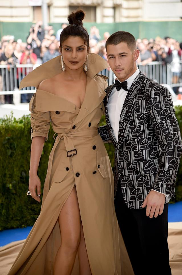 Priyanka Chopra introduced Nick Jonas to her mother on a recent trip to India. (Photo: Dimitrios Kambouris/Getty Images)