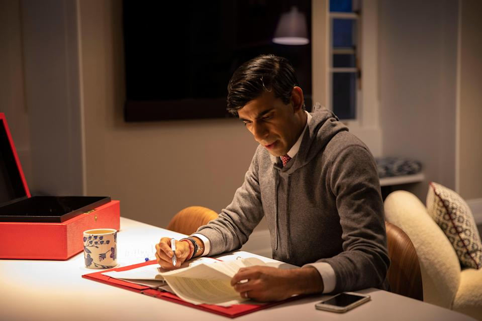 Chancellor Rishi Sunak prepares for his spending review statement (Treasury)