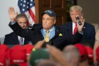 Giuliani, shown with President Donald Trump at his golf club in Bedminster, New Jersey on August 14, 2020 is said to have seen his relationship with the reality-star-turned-leader-of-the-free-world as a ticket to power