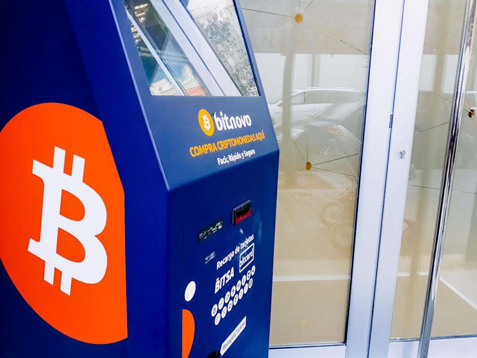 A Bitcoin ATM is a kiosk that allows a person to purchase bitcoin by using cash or debit card. Photo: Getty Images