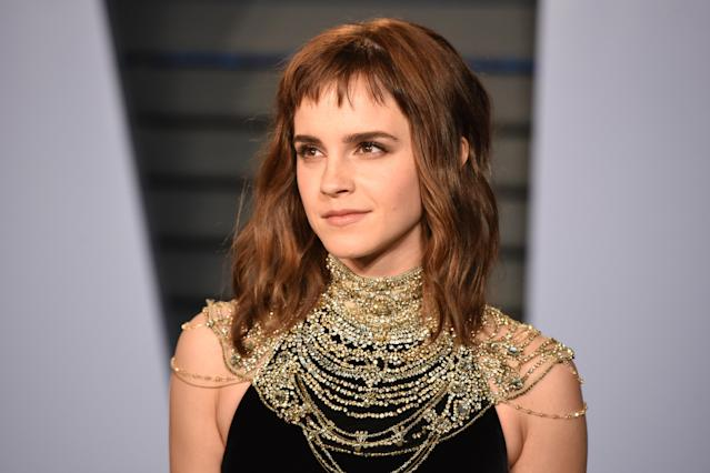 Emma Watson says she's happy being self-partnered. [Photo: Getty]