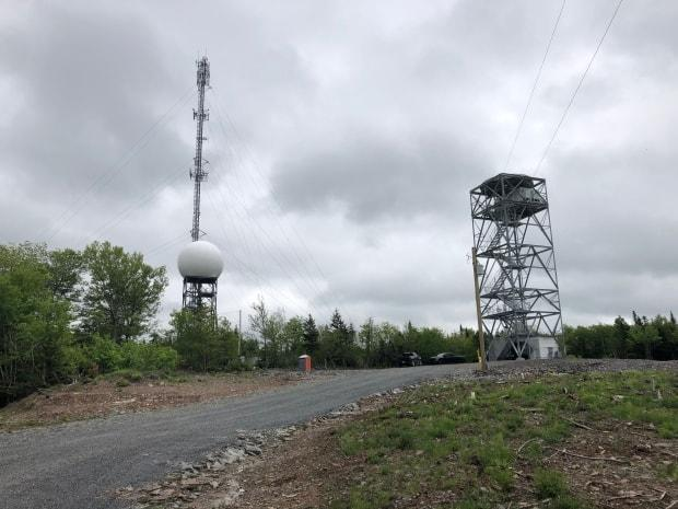The Gore site in Hants County, pictured here in June 2021, has been intermittently off-line since April. (Paul Poirier/CBC - image credit)