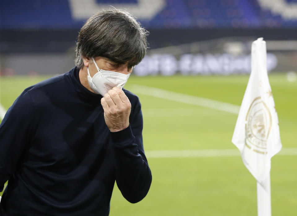 Soccer Football - World Cup Qualifiers Europe - Group J - Germany v Iceland - MSV-Arena, Duisburg, Germany - March 25, 2021 Germany coach Joachim Low before the match REUTERS/Wolfgang Rattay