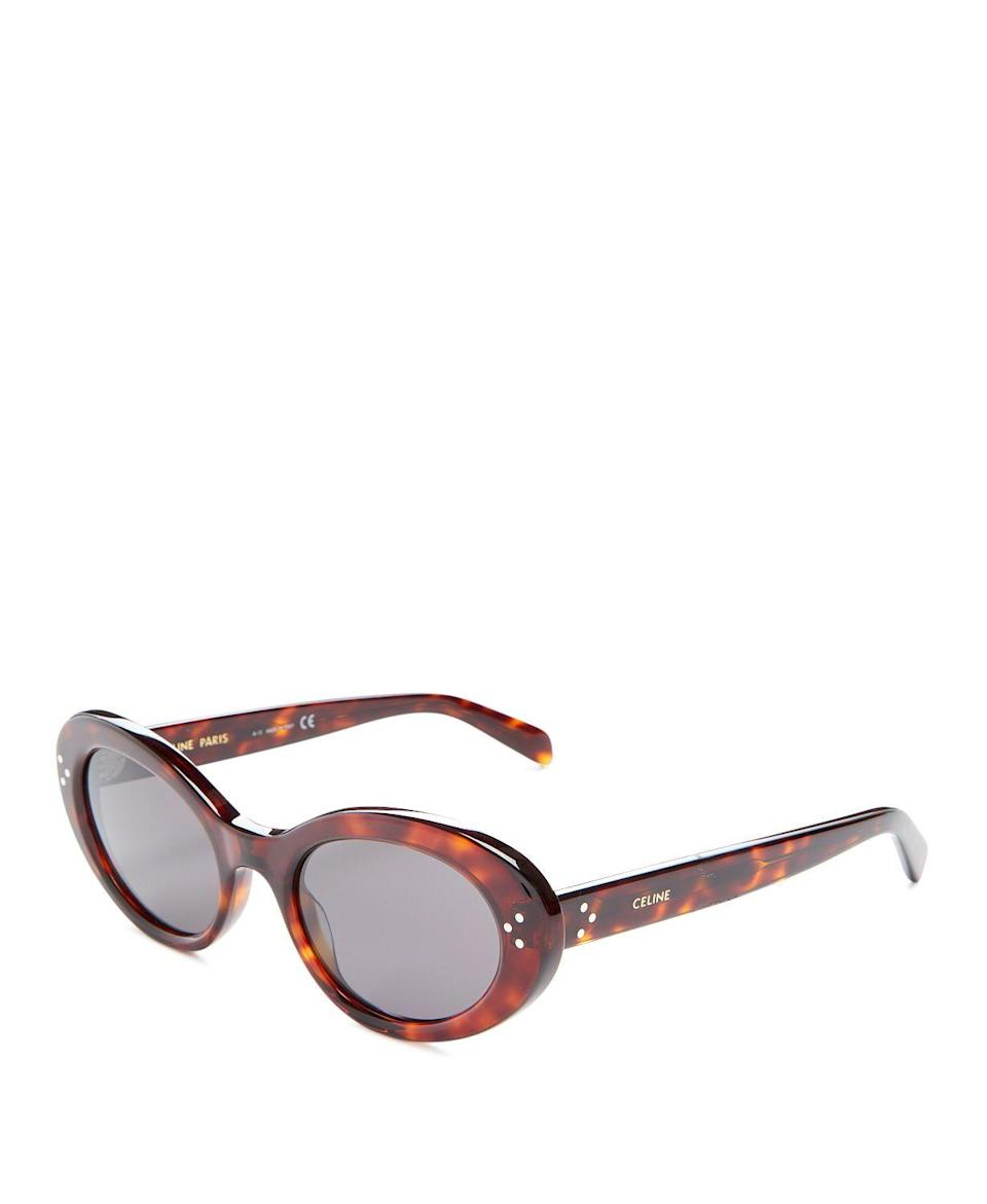 """<p><strong>CELINE</strong></p><p>bloomingdales.com</p><p><strong>$400.00</strong></p><p><a href=""""https://go.redirectingat.com?id=74968X1596630&url=https%3A%2F%2Fwww.bloomingdales.com%2Fshop%2Fproduct%2Fceline-womens-round-sunglasses-53mm%3FID%3D4087793&sref=https%3A%2F%2Fwww.townandcountrymag.com%2Fsociety%2Ftradition%2Fg37681411%2Fprincess-diana-sweatshirt-biker-shorts-outfit-inspiration%2F"""" rel=""""nofollow noopener"""" target=""""_blank"""" data-ylk=""""slk:Shop Now"""" class=""""link rapid-noclick-resp"""">Shop Now</a></p><p>Finish off the look with oval-shaped, tortoise shell sunglasses, like this effortlessly chic pair from Céline. </p>"""