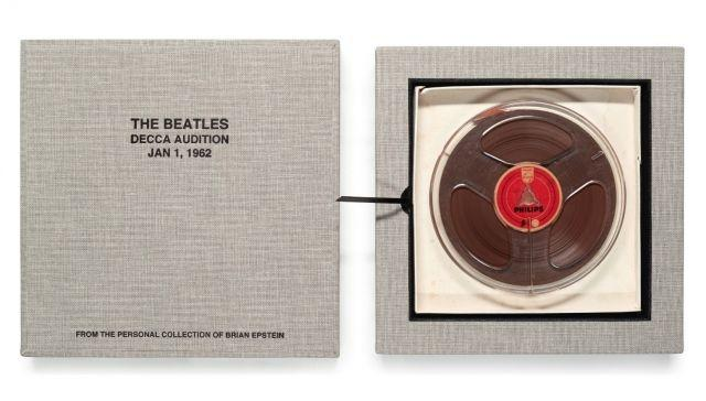 The Beatles' audition tape for Decca Records to hit the auction block