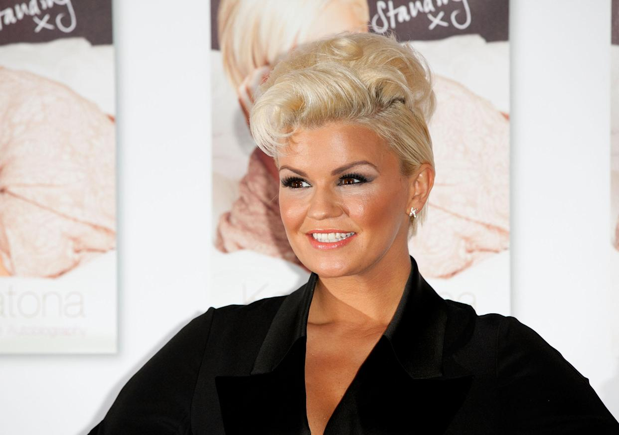 Kerry Katona slurred her words during an interview on 'This Morning'. (UK Press via Getty Images)