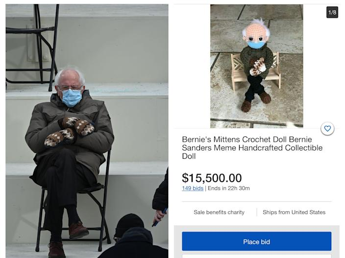 Bernie Sanders Meme and his Crotched Doll