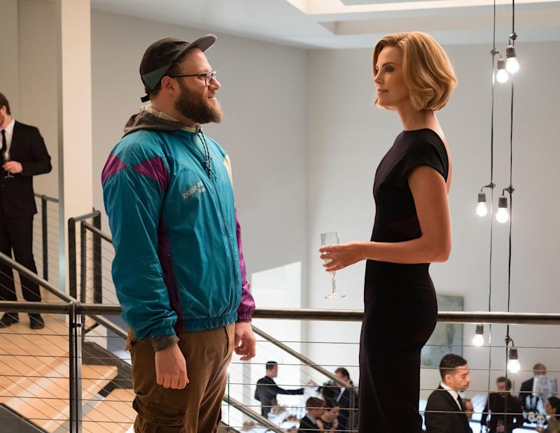 Seth Rogen and Charlize Theron in 'Long Shot' (Photo: Philippe Bosse / © Lionsgate / courtesy Everett Collection)