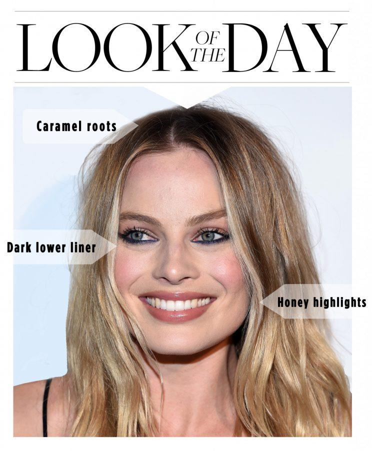 Margot Robbie made this throwback beauty look fresh. (Photo: Getty Images)