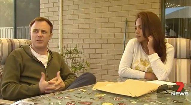Mr Berg and his partner at home. Source: 7News